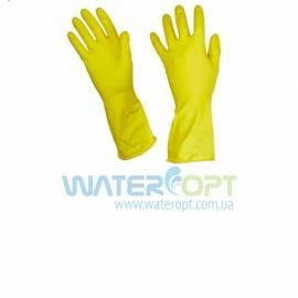 Латексные хозяйственные перчатки с хлопковым напылением 2 сорт