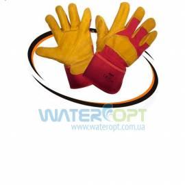 Защитные перчатки кожаные утеплённые