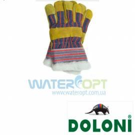 Утепленные рабочие перчатки Doloni замш