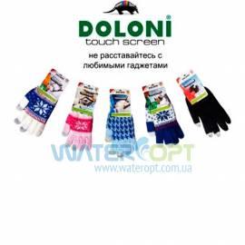 Зимние перчатки для телефона Doloni Touch Screen Blue
