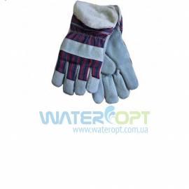 Замшевые рабочие утепленные перчатки с усиленные кожей