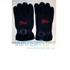 Зимние перчатки Флис с поролоном черные