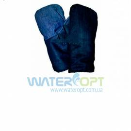 Рукавицы рабочие из джинсовой ткани (двойные)