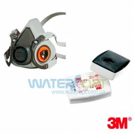 Респиратор полумаска 3M с фильтрами 6035 оригинал