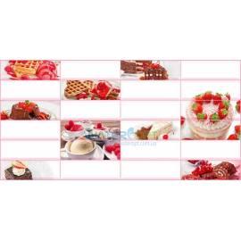 Листовая панель ПВХ Плитка Десерт