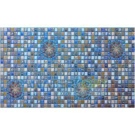 Листовые панели Медальон синий