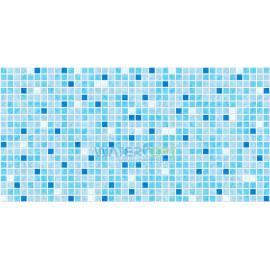 Листовые панели Мозаика Микс синий