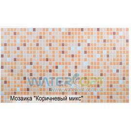 Листовые панели Мозаика Микс коричневый