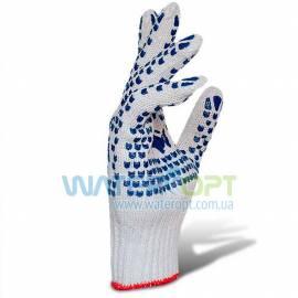 Защитные перчатки  ХБ двухсторонняя ПВХ точка