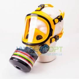 Противогаз ГП-9 желтый с фильтром под аммиак и ртуть 2018 год
