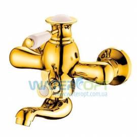 Смеситель для ванной золотого цвета Zerix Z3017-4