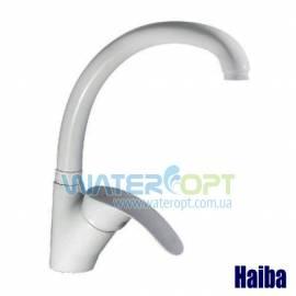 Смеситель для кухни белый Haiba Mars 011