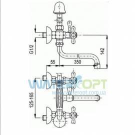 Смеситель для ванны бронза Emmevi DECO CLASSIC BR12011CC L350