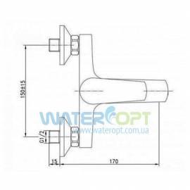 Смеситель для ванны с душем бронза POTATO P3009-2