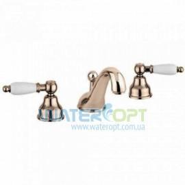 Смеситель для умывальника на три отверстия бронза EMMEVI DECO CERAMIC BR121033