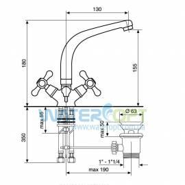 Смеситель для раковины бронза EMMEVI DECO CLASSIC BR12913