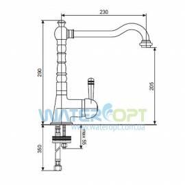 Смеситель для кухни бежевый мрамор EMMEVI LAGUNA P 50 40516