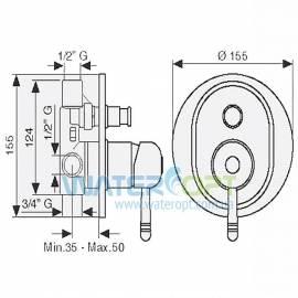Смеситель для ванны скрытого монтажа бронза EMMEVI LAGUNA BR40019