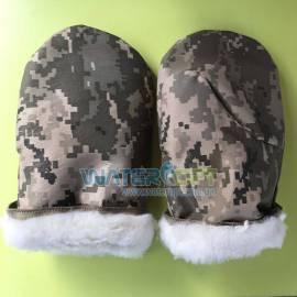 Камуфляжные рукавицы с искусственным мехом