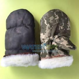 Комбинированные рукавицы с искусственным мехом