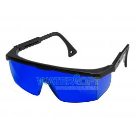 Очки защитные Комфорт линза синяя