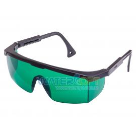 Очки защитные Комфорт линза зеленая