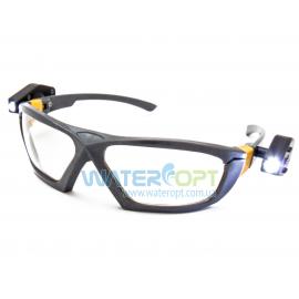 Открытые защитные очки с 2-мя фонариками линза ПК