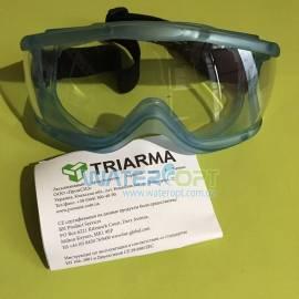 Закрытые защитные очки Triarma не потеющие, антизарапина, силикон