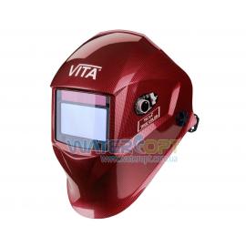 Маска сварщика Хамелеон VITA TIG 3-A TrueColor цвет металлические соты красные