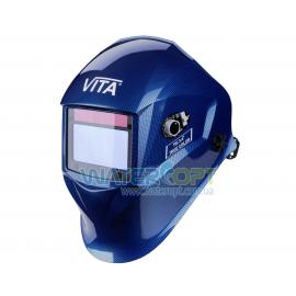 Маска сварщика Хамелеон VITA TIG 3-A TrueColor цвет металлические соты синие