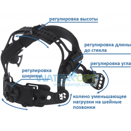 Маска сварщика Хамелеон VITA TIG 3-A TrueColor цвет металлические соты черные