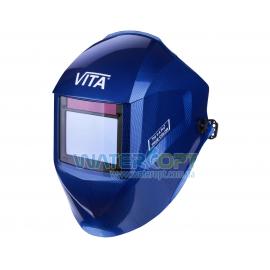 Маска сварщика Хамелеон VITA IG 3-A Pro TrueColor цвет металлические соты синие