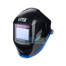 Маска сварщика Хамелеон VITA IG 3-A Pro TrueColor цвет металлические соты черные с синей полосой