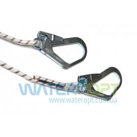 Двойной строп из шнура с амортизатором и тремя карабинами 1АСШ22
