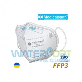 Защитная маска респиратор medicalspan FFP3 без клапана