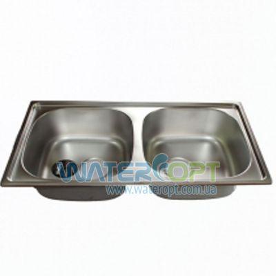 Мойка для кухни Haiba 78*43 Double Сатин
