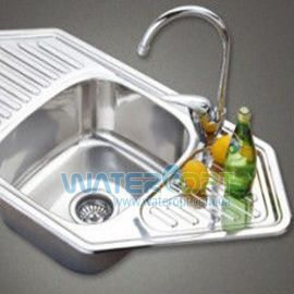 Мойка для кухни угловая Haiba 95*50 Хром