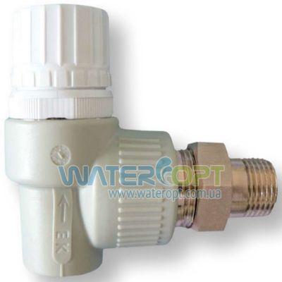 Вентиль Радиатор термостатический Угловой 20*1/2 Ekoplastik