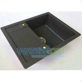Мойка для кухни черная гранит S-Line 65х50