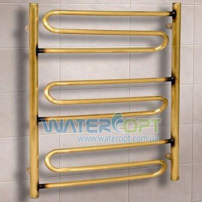 Полотенцесушитель водяной Волна 3 Бронза 500*700
