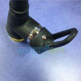 Смеситель для кухни черный мрамор Hi-Non h064